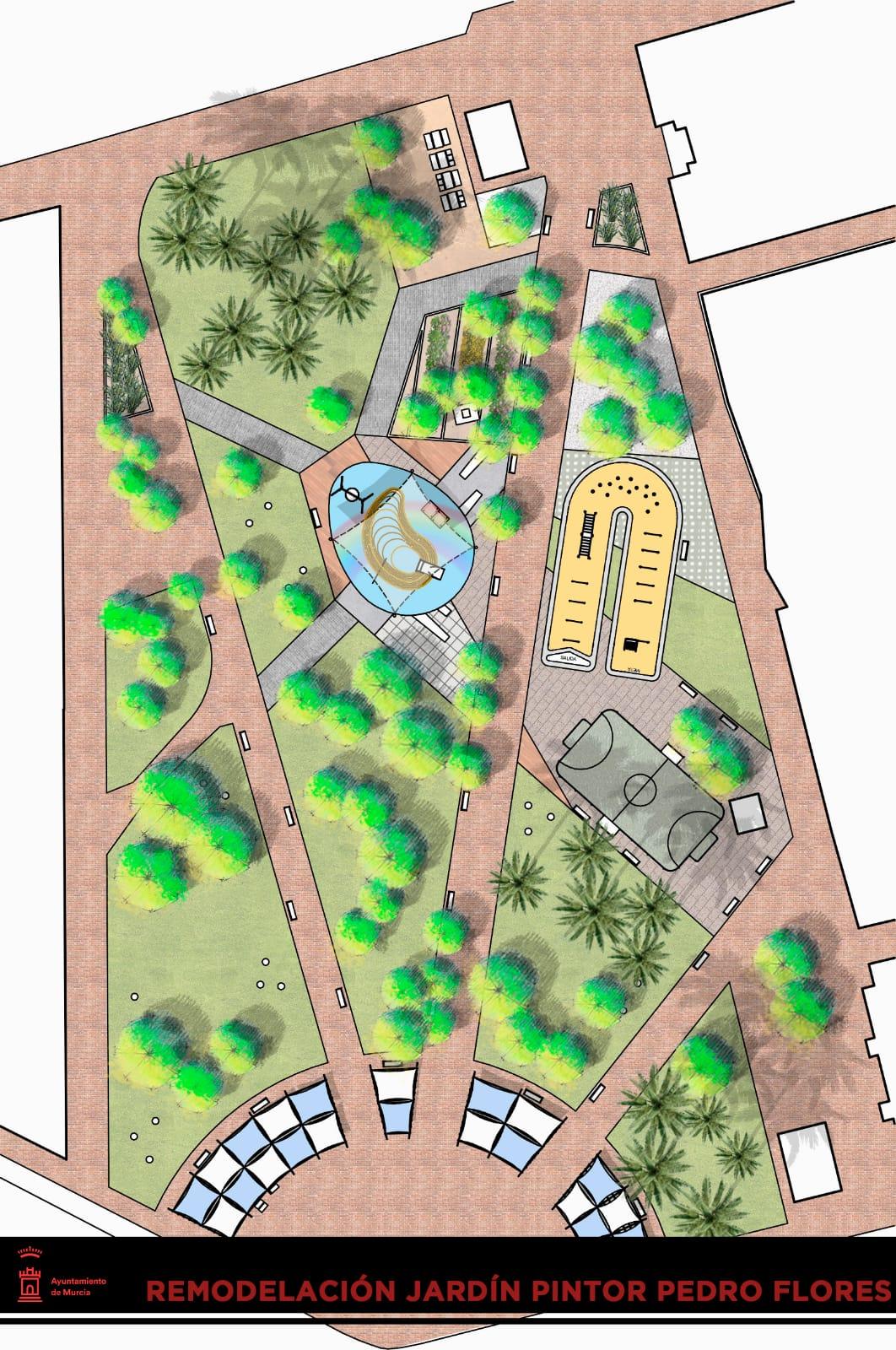 Mapa de cómo será el jardín pintor pedro flores